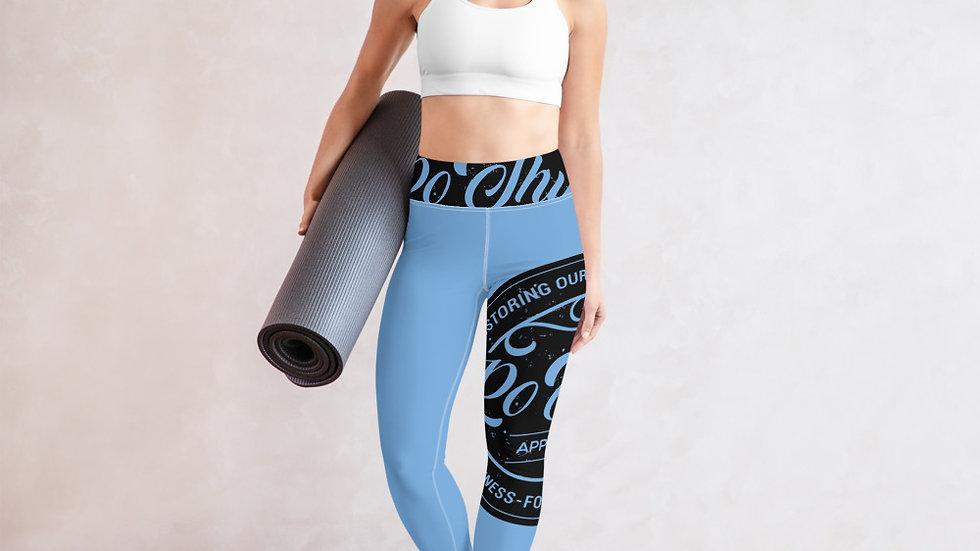 RoThug Yoga Leggings-Light Blue