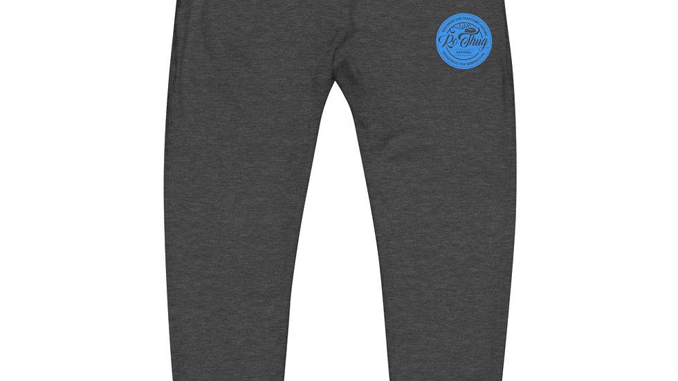 RoThug Unisex fleece sweatpants-Light Blue Logo
