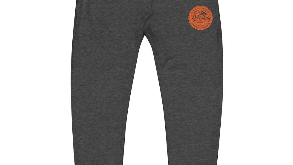 RoThug Unisex fleece sweatpants-Orange Logo