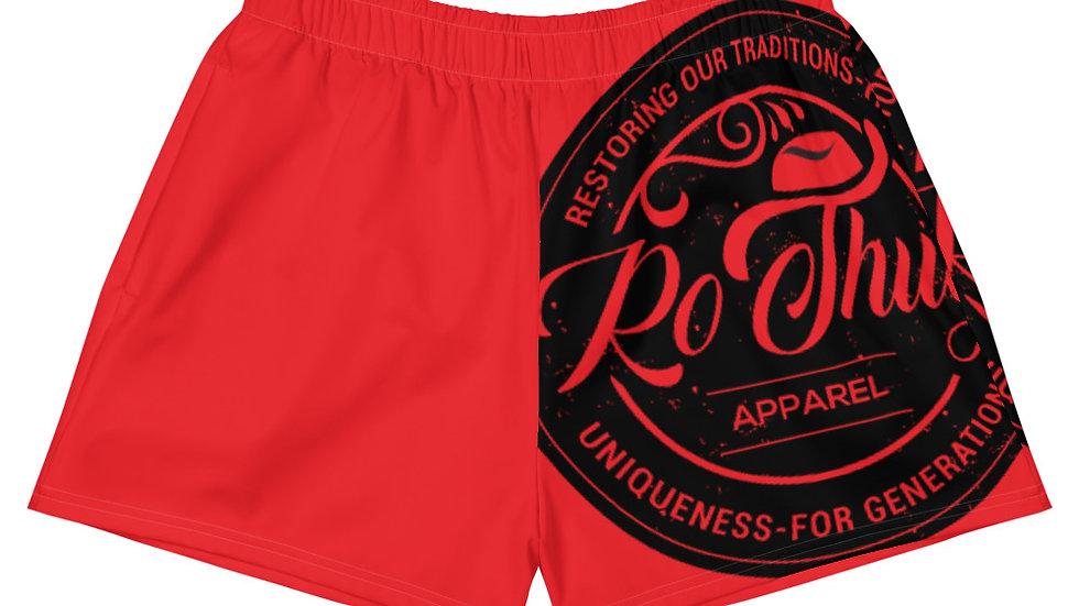 RoThug Women's Athletic Short Shorts-Red