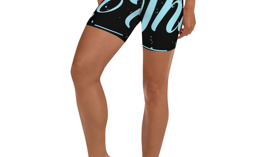 RoThug Yoga Shorts-Powder Blue