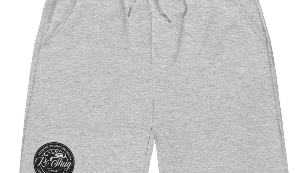 RoThug Men's fleece shorts- Black Logo
