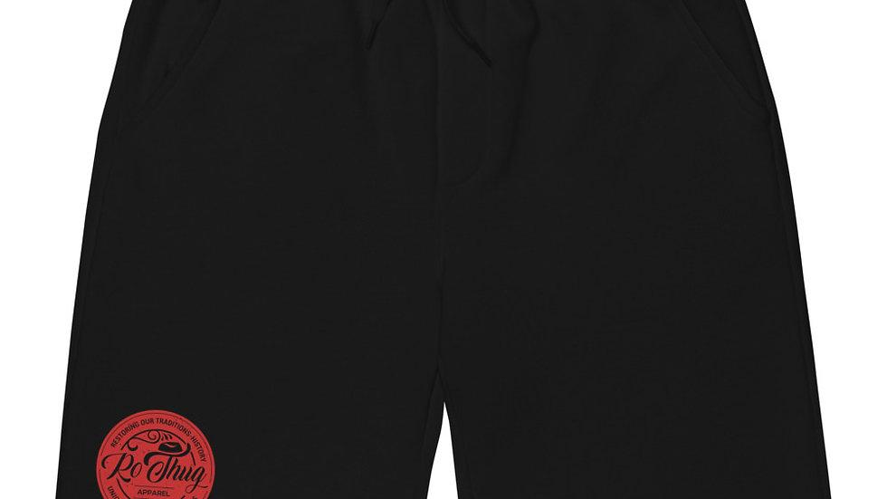 RoThug Men's fleece shorts- Red Logo