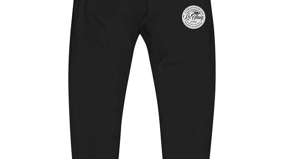 RoThug Unisex fleece sweatpants-White Logo