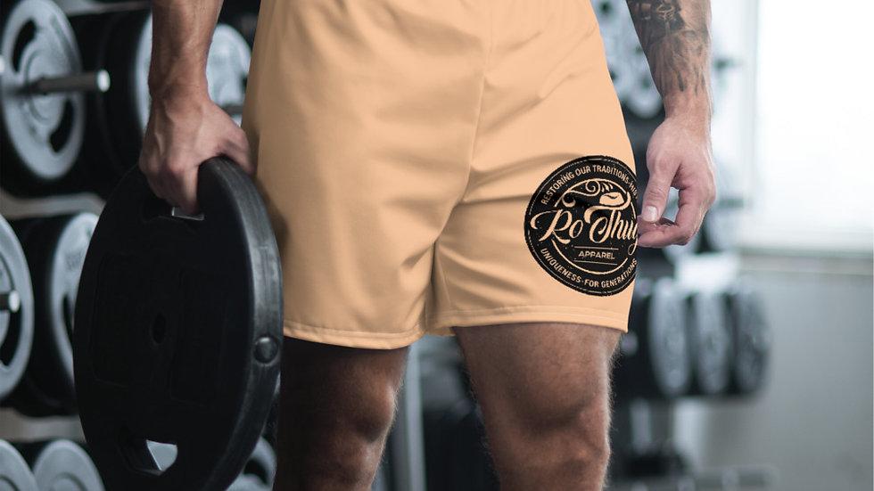 RoThug Men's Athletic Long Shorts-Nude