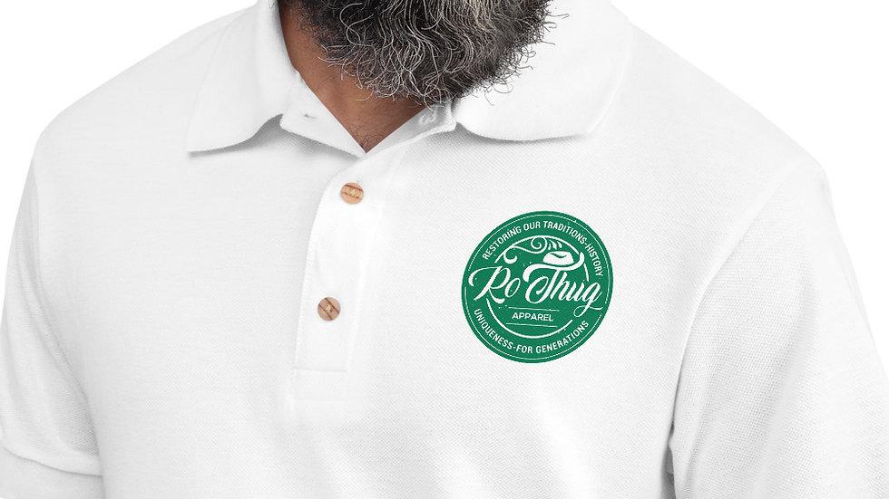 RoThug Embroidered Polo Shirt-Green