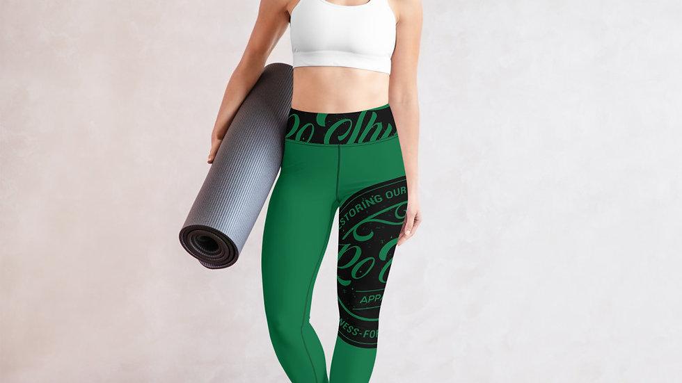 RoThug Yoga Leggings-Green