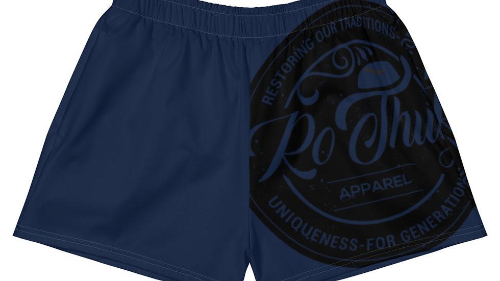 RoThug Women's Athletic Short Shorts-Navy Blue