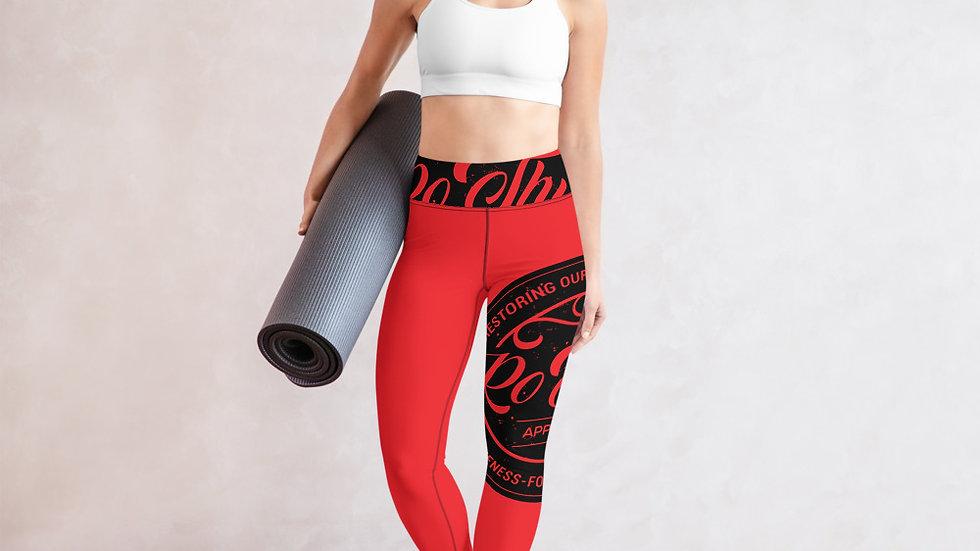 RoThug Yoga Leggings-Red