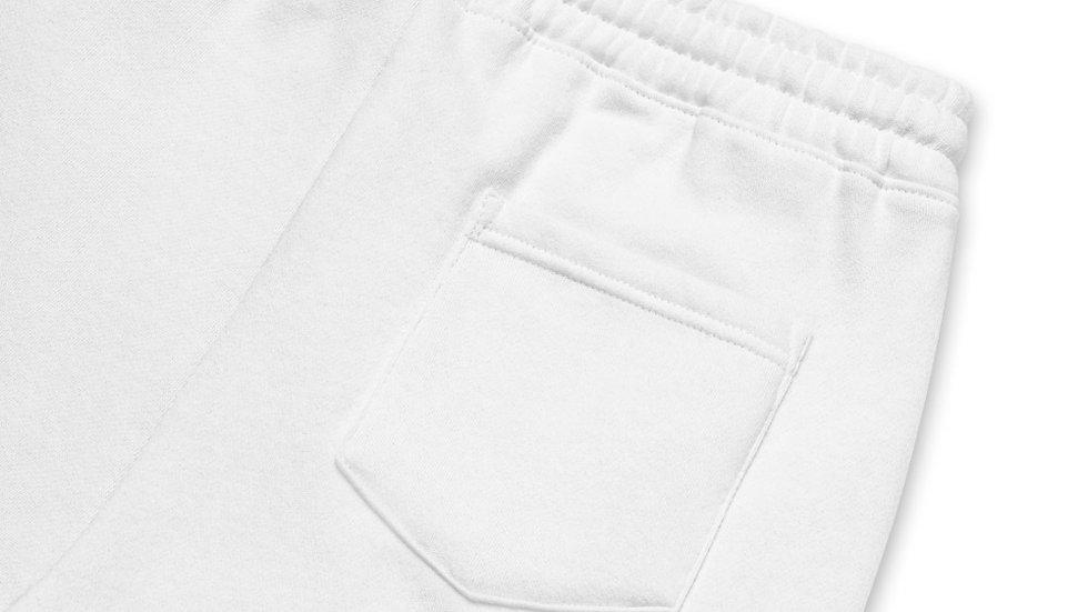 RoThug Men's fleece shorts-Powder Blue Logo