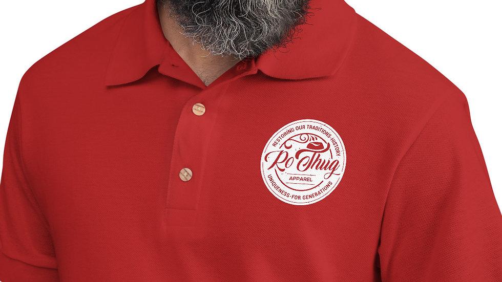 RoThug Embroidered Polo Shirt-White Logo