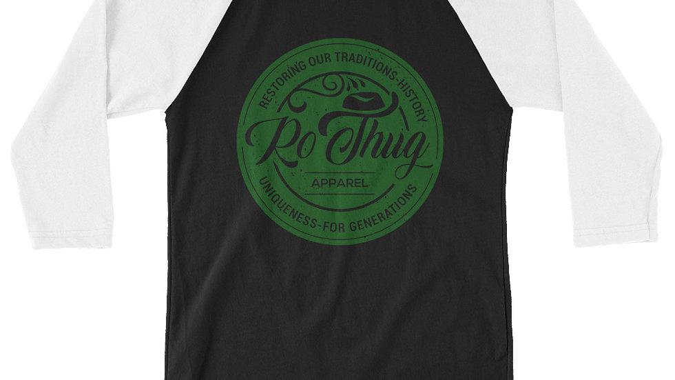 RoThug 3/4 sleeve raglan shirt-Green