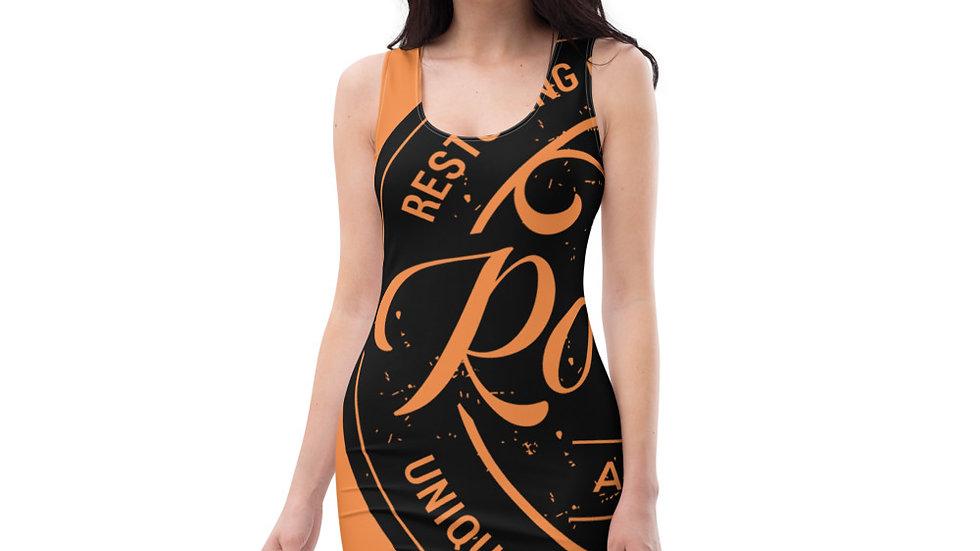 RoThug Sublimation Cut & Sew Dress-Orange