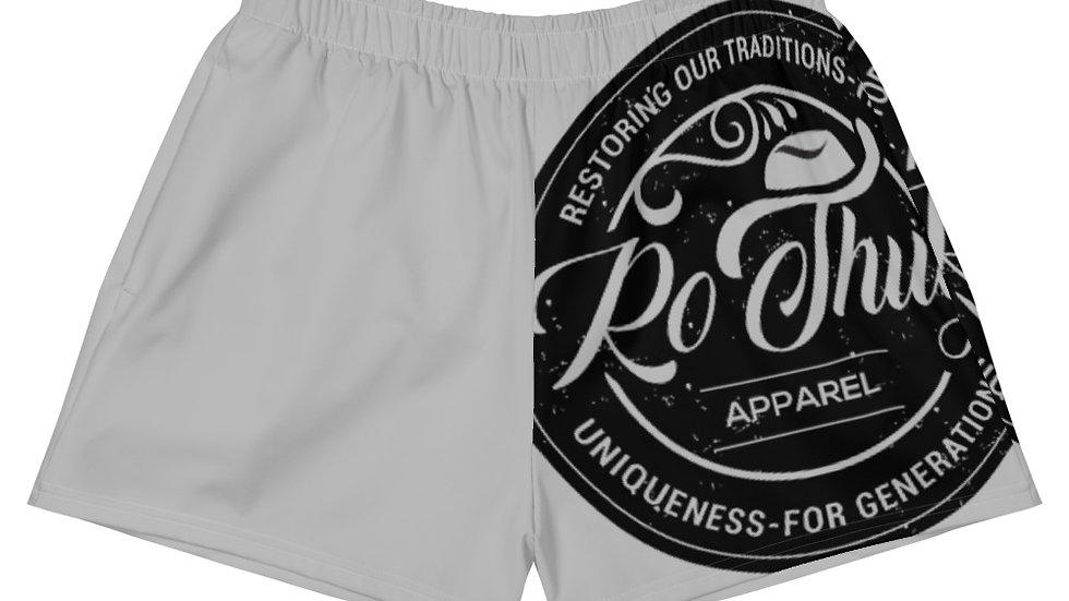 RoThug Women's Athletic Short Shorts-Grey