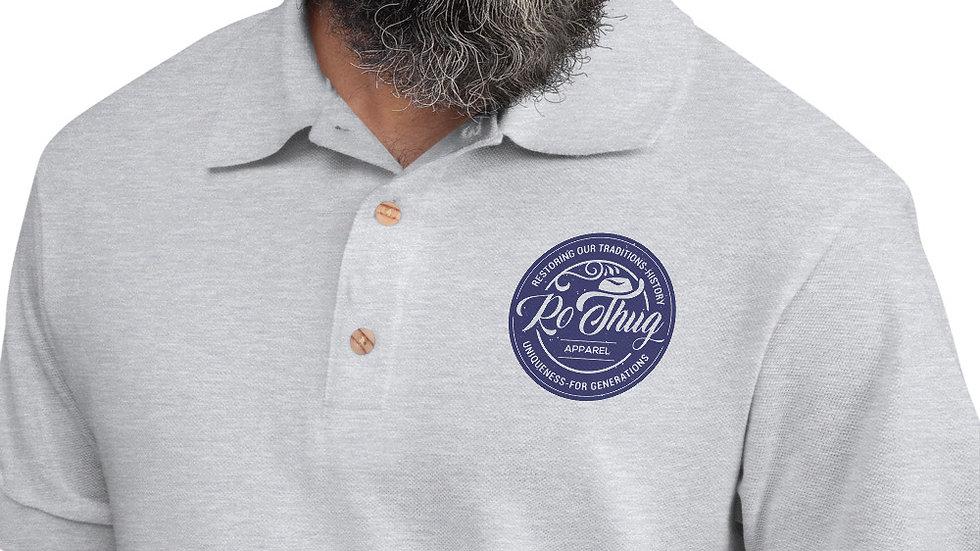 RoThug Embroidered Polo Shirt-Navy
