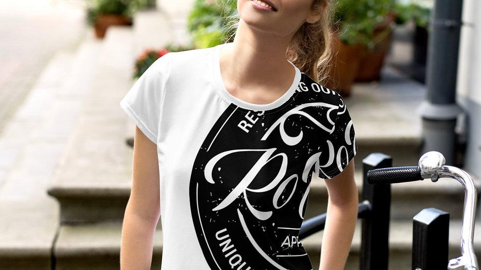 RoThug Women's All-Over Print Crop Tee-White