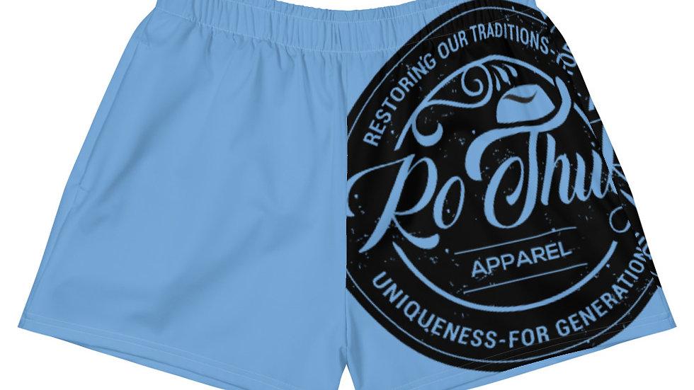 RoThug Women's Athletic Short Shorts-Light Blue