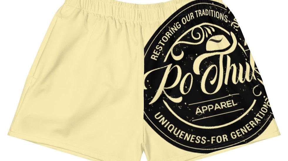 RoThug Women's Athletic Short Shorts-Yellow
