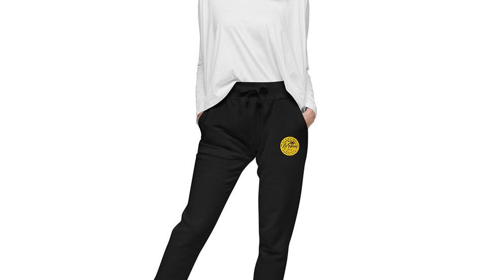 RoThug Women's fleece sweatpants-Black Logo copy