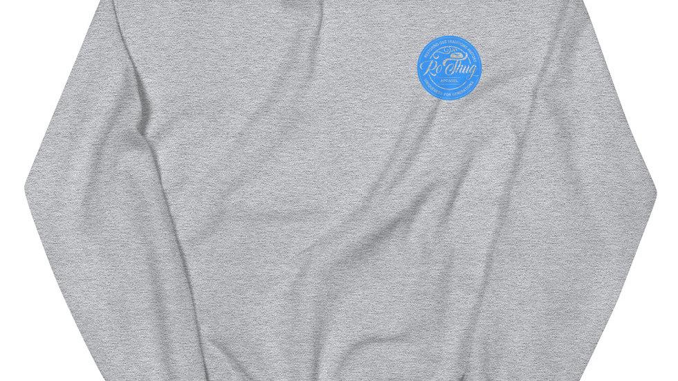 RoThug Unisex Sweatshirt-Light Blue Logo