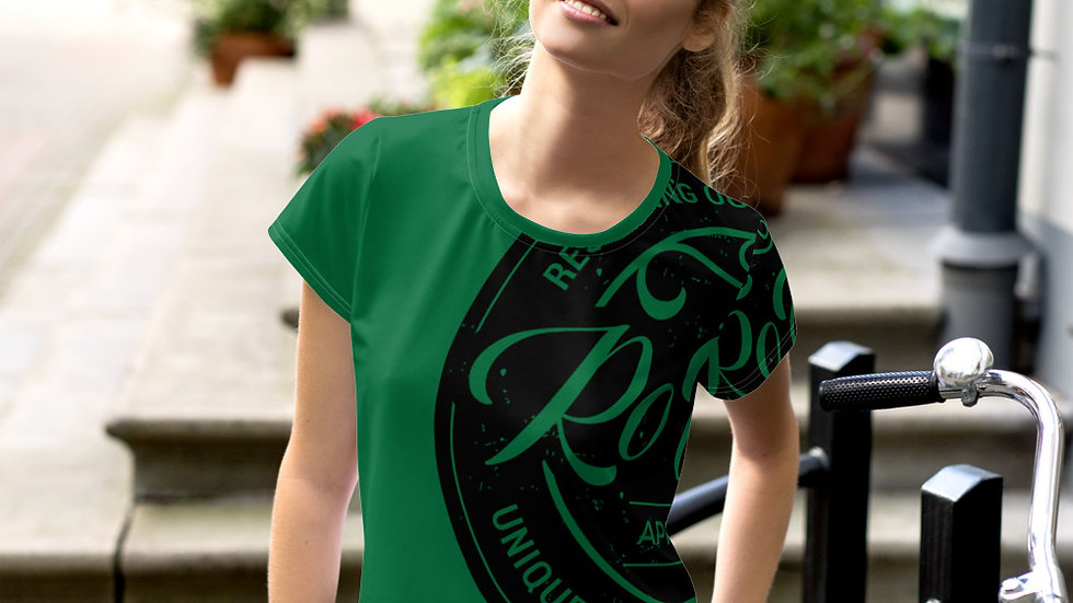 RoThug All-Over Print Crop Tee-Green