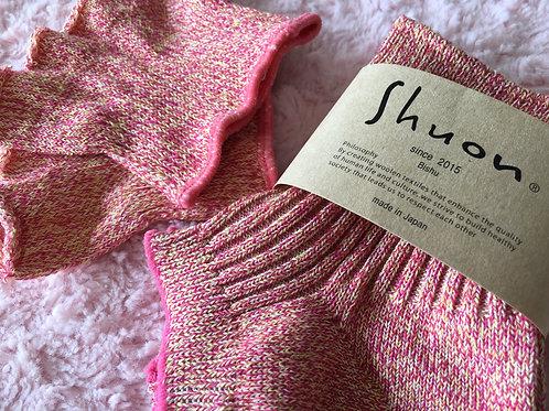 羊の靴下 〜WASHI・オーガニックコットン〜pink
