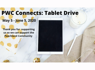 PWC Connects: Tablet Drive May 5 - June 5, 2020