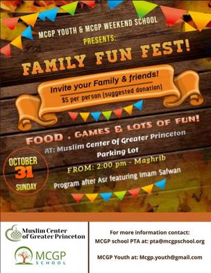 MCGP Family Fun Fest on 10/31!!!