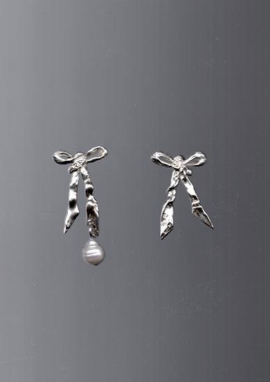 Ribbon'd Metal Earrings