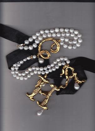 18ct Vermeil Personalised Pendant on Pearls