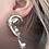 Thumbnail: Snail'd Pearl Earring