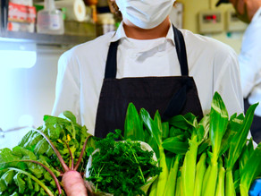 育てた野菜はレストランでお楽しみ頂けます!