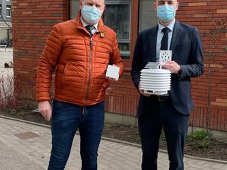 Sint-Pietersschool in Mechelen monitort de luchtkwaliteit