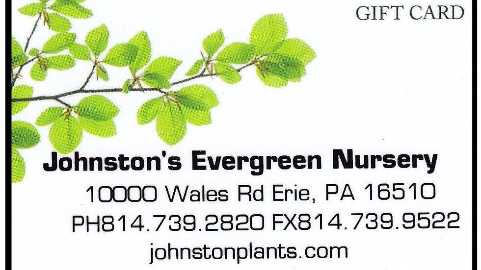 Johnston's Gift Card