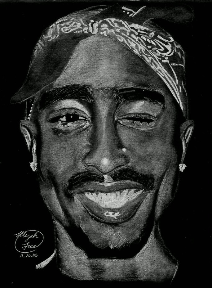 """""""Inverted Tupac"""" 2015 (with negative filter)"""