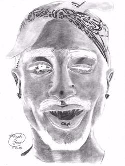 Inverted Tupac (original drawing)