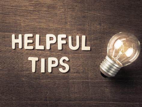 Helpful Tips - Fall 2021