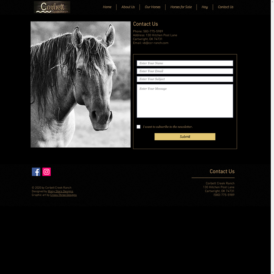 Corbett Creek Ranch - Contact Us