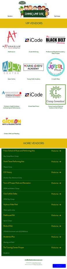 GMP Camp Fair - Vendor Page