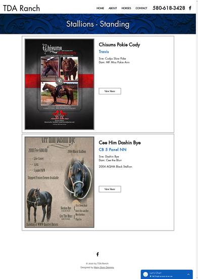TDA Ranch - Standing Stallions