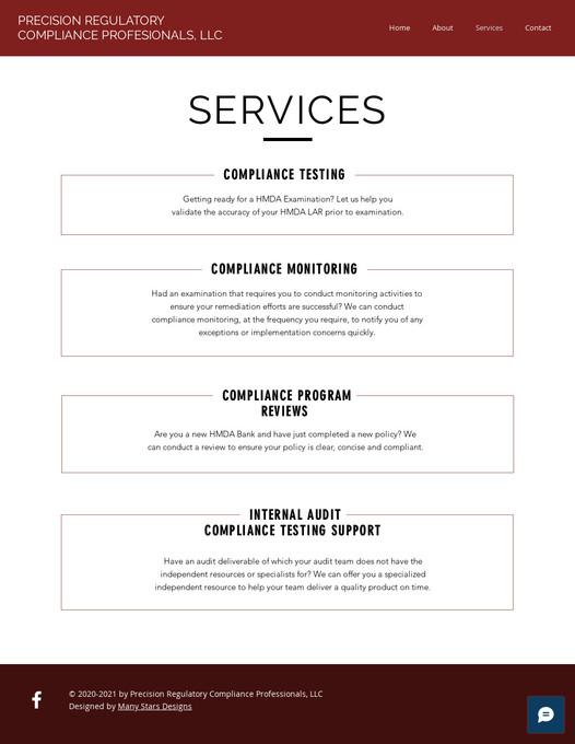 Precision Regulatory Compliance Professionals - Services