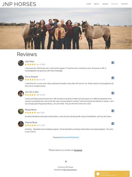 JNP Horses - Reviews