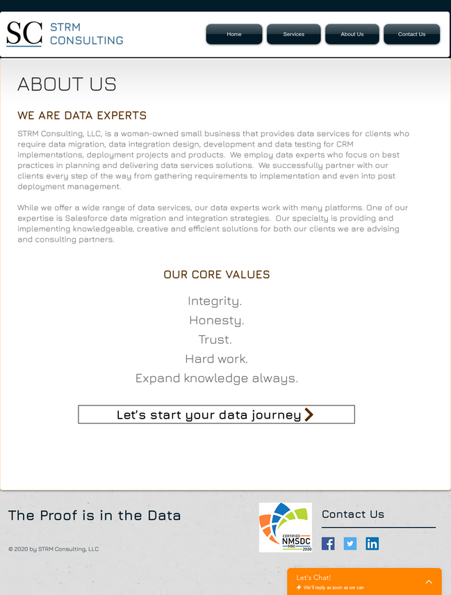 STRM Consulting, LLC - About Us