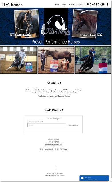 TDA Ranch Home Page