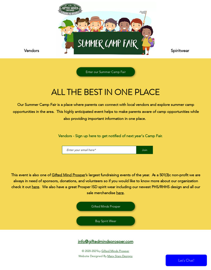 GMP Camp Fair - Home Page