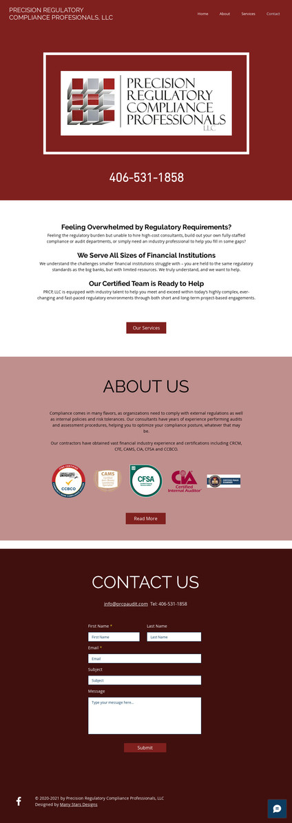 Precision Regulatory Compliance Professionals - Home