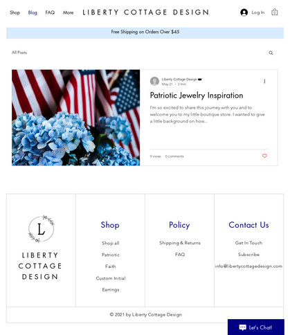 Liberty Cottage Design - Blog Page