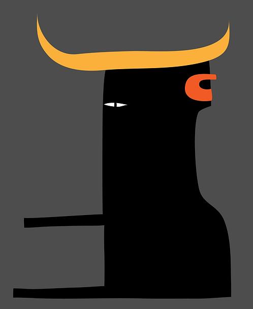 Bull Face  AN087