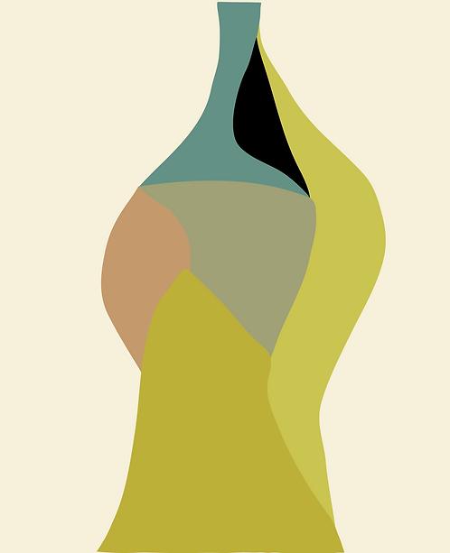 Green Vase  SL058