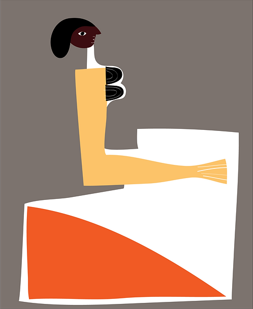 Girl In Orange Dress  PR084